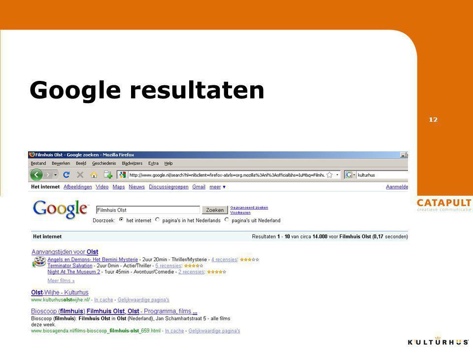 Google resultaten 12