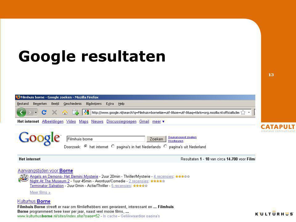 Google resultaten 13