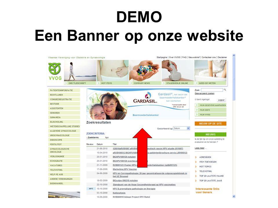 DEMO Een Banner op onze website