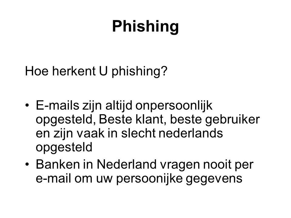 Phishing Hoe herkent U phishing.
