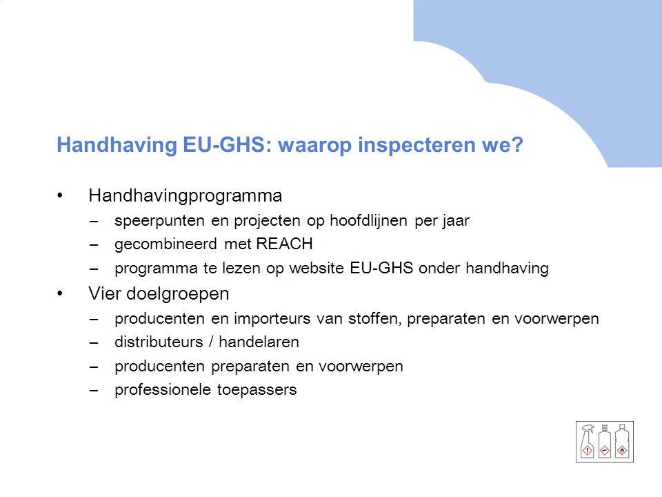 Handhaving EU-GHS: waarop inspecteren we.