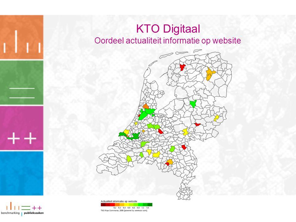KTO Digitaal Oordeel actualiteit informatie op website