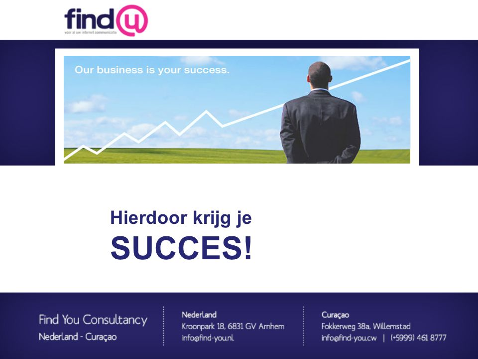 Website template Hierdoor krijg je SUCCES! Website totaal