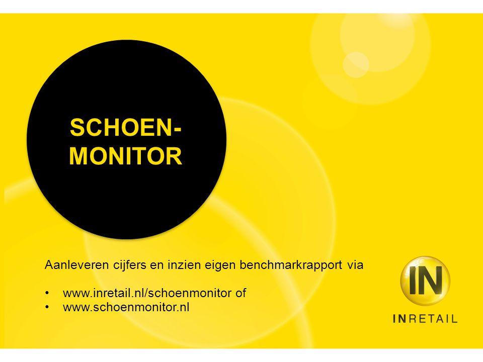 SCHOEN- MONITOR Aanleveren cijfers en inzien eigen benchmarkrapport via •www.inretail.nl/schoenmonitor of •www.schoenmonitor.nl