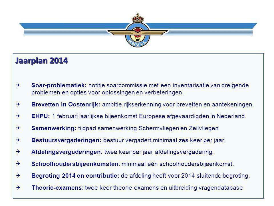 Jaarplan 2014  Soar-problematiek: notitie soarcommissie met een inventarisatie van dreigende problemen en opties voor oplossingen en verbeteringen.