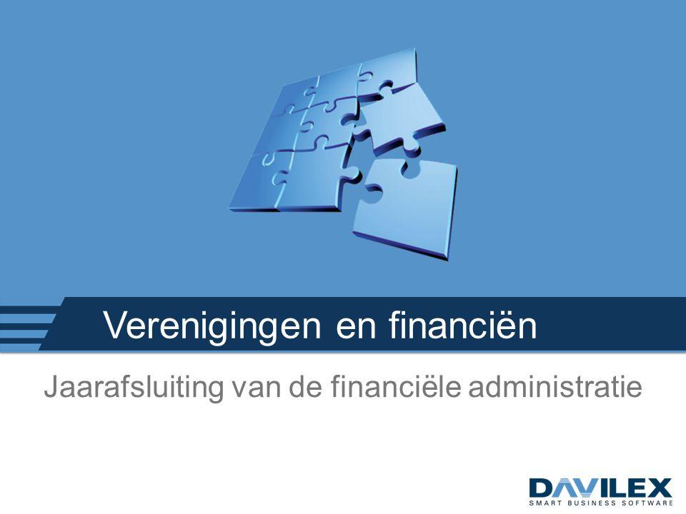 Verenigingen en financiën Jaarafsluiting van de financiële administratie