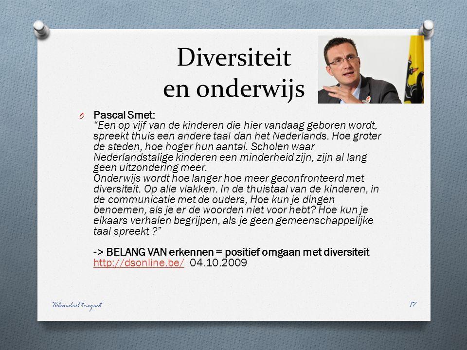 Diversiteit en onderwijs O Pascal Smet: Een op vijf van de kinderen die hier vandaag geboren wordt, spreekt thuis een andere taal dan het Nederlands.