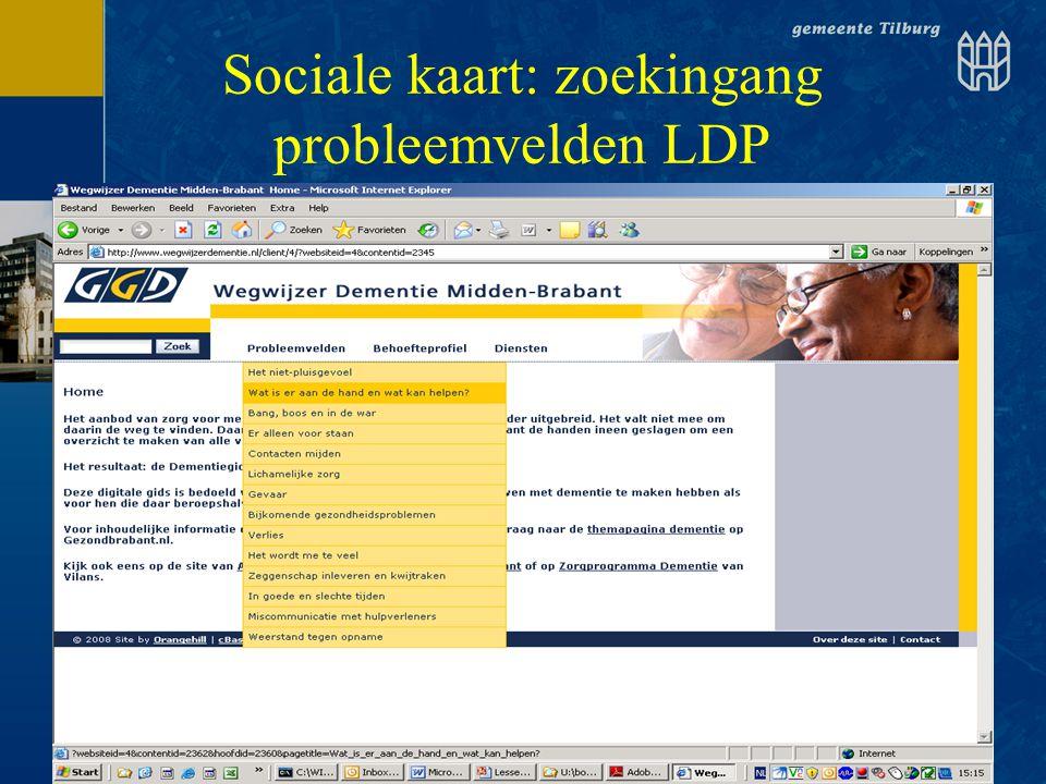 Sociale kaart: zoekingang probleemvelden LDP