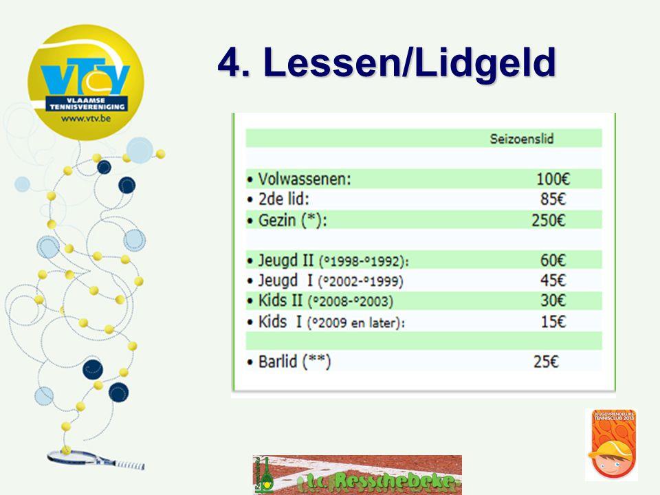 4. Lessen/Lidgeld