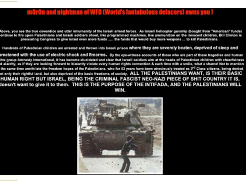 Case political cracking WFD  3 december 2000, eerste politieke hack in typische WFD stijl