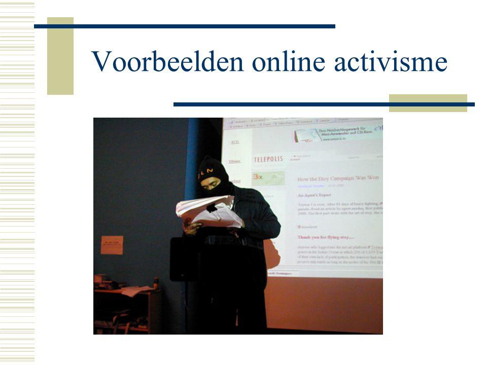 Voorbeelden online activisme