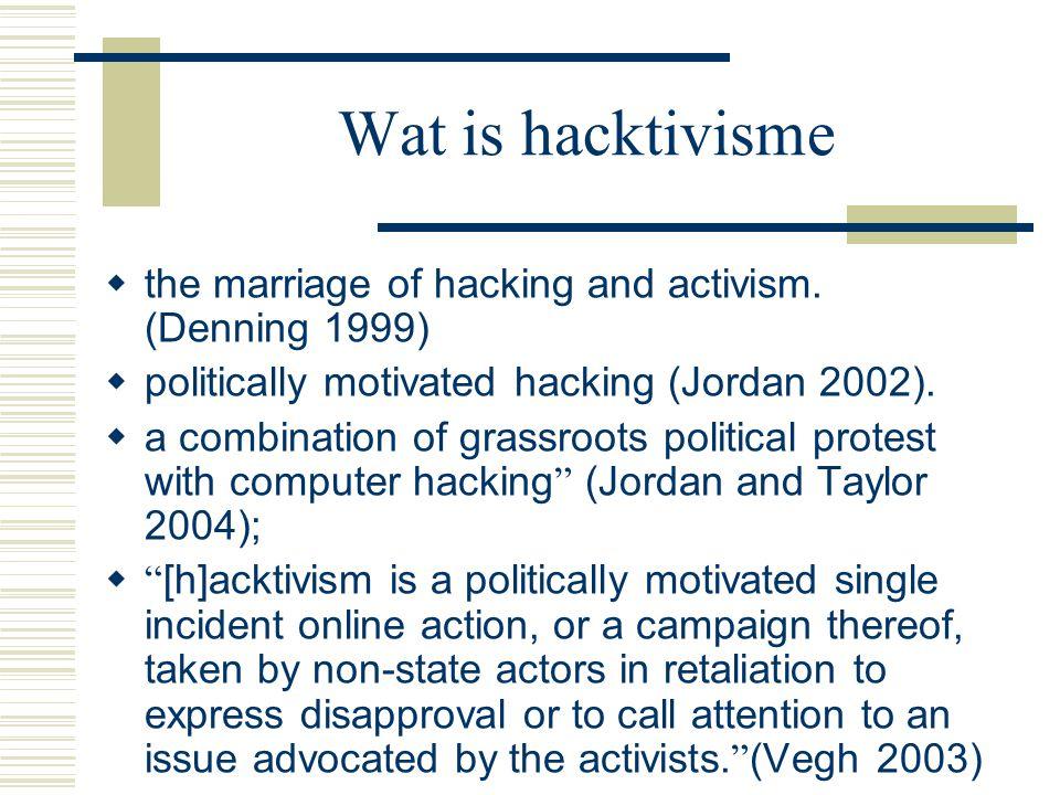 Cyberwar  McAffee: 120 landen ontwikkelen een of andere vorm om internet in te zetten als wapen om strategische doelwitten te raken  Vb van virtuele inbraak in een dam (VS) en rioolwater (Australië)  Concept van oorlogsvoering herzien.