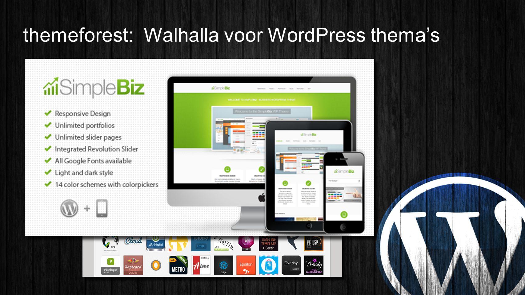 themeforest: Walhalla voor WordPress thema's
