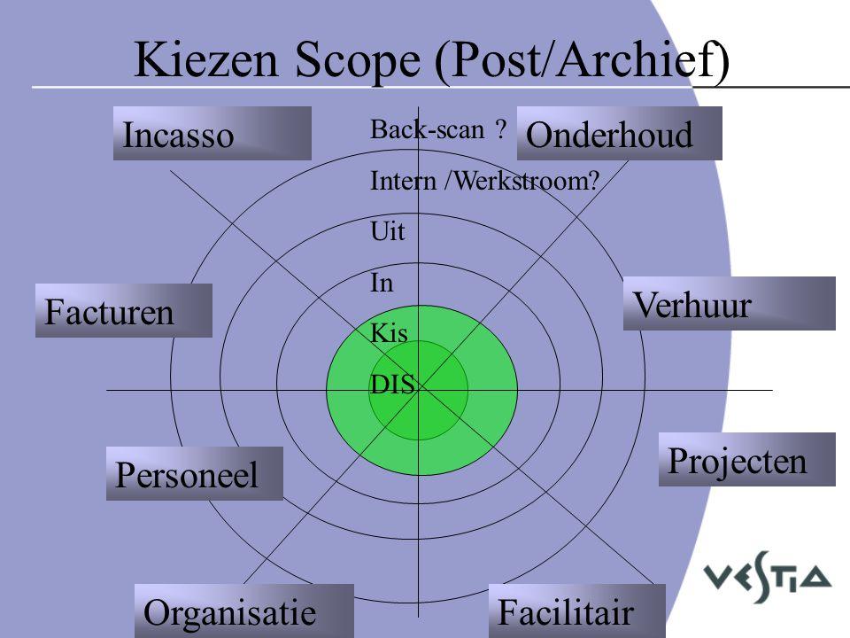 Werkwijze •Plan van Aanpak vestiging / communicatieplan/MT scope •Vooronderzoek / installatie-configuratie / opleiding beheer/admin •Kiezen/besluiten