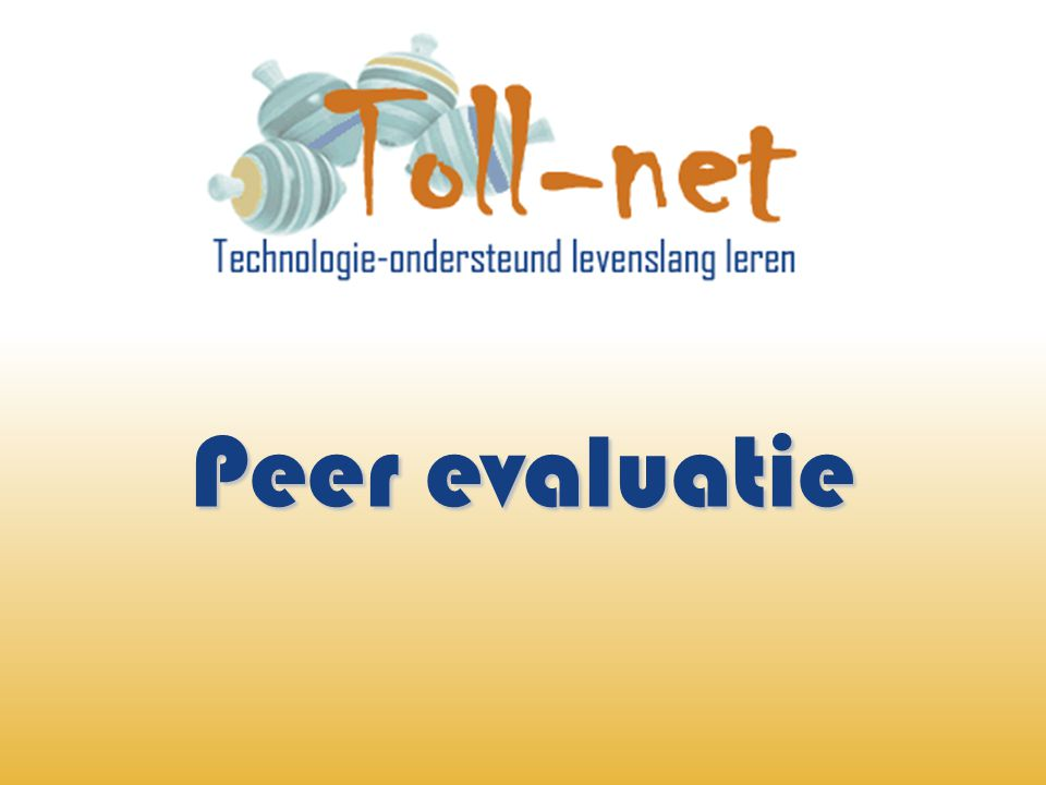 Peer evaluatie