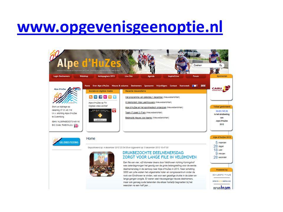 www.opgevenisgeenoptie.nl