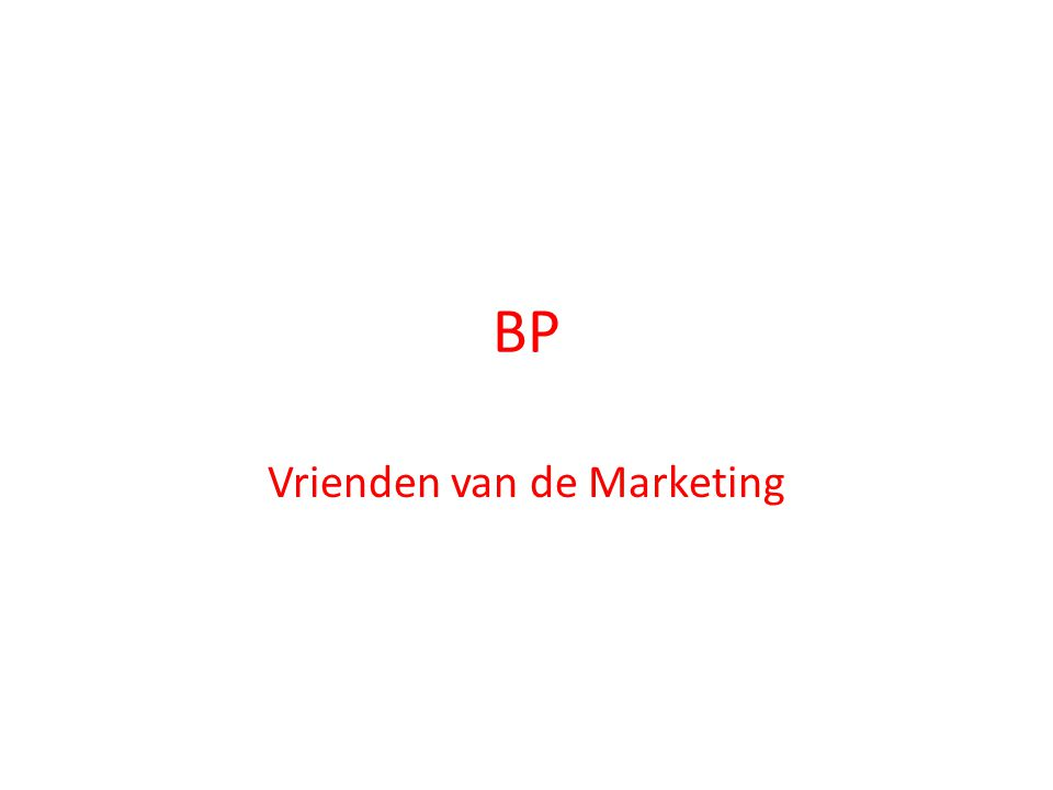 BP Vrienden van de Marketing