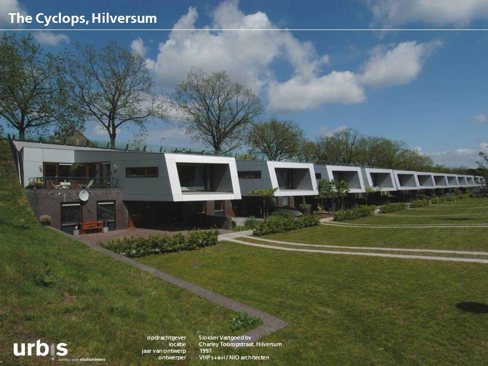 The Cyclops, Hilversum opdrachtgever locatie jaar van ontwerp ontwerper adviseur m2rs/ woningaantallen status project bouwkosten contactpersoon websit