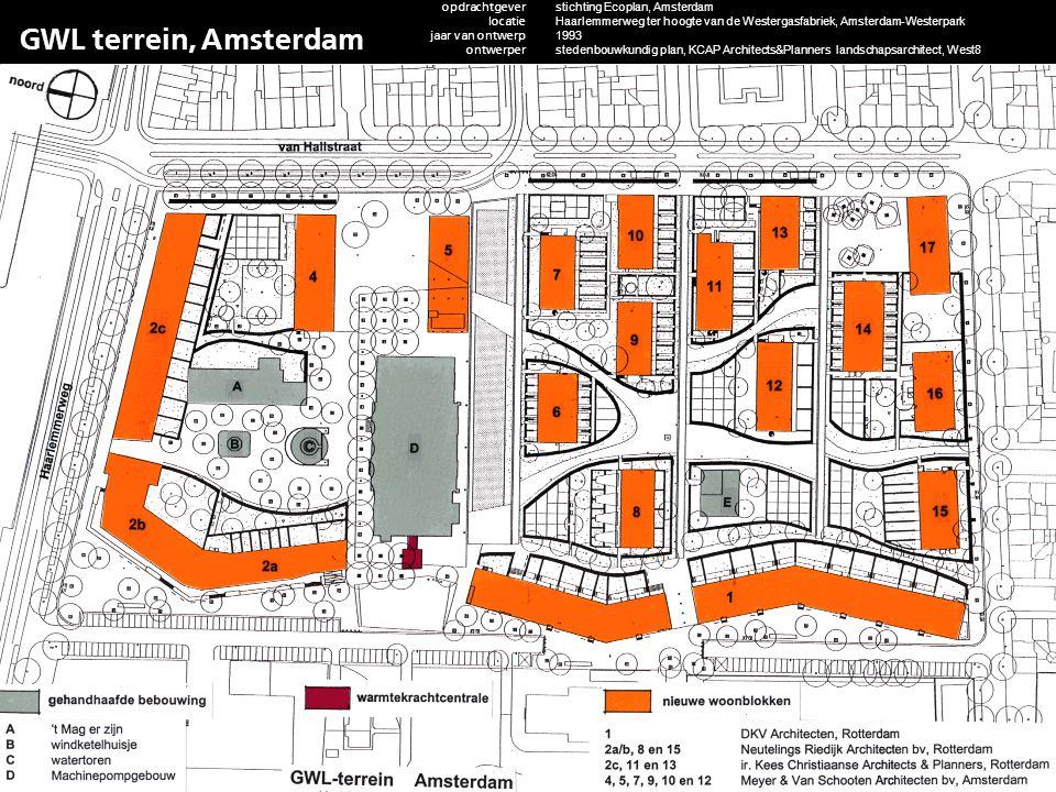 GWL terrein, Amsterdam opdrachtgever locatie jaar van ontwerp ontwerper adviseurs functie m2rs/ woningaantallen status project contactpersoon website