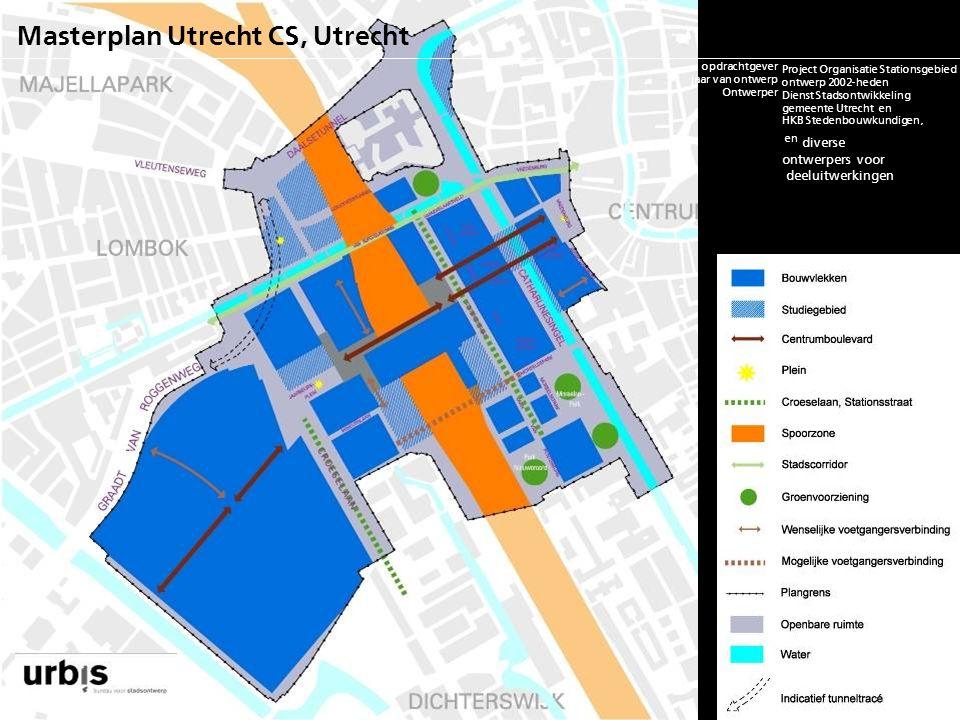 Masterplan Utrecht CS, Utrecht opdrachtgever jaar van ontwerp ontwerper m2rs/ woningaantallen status project financiering, bouwkosten contactpersoon w