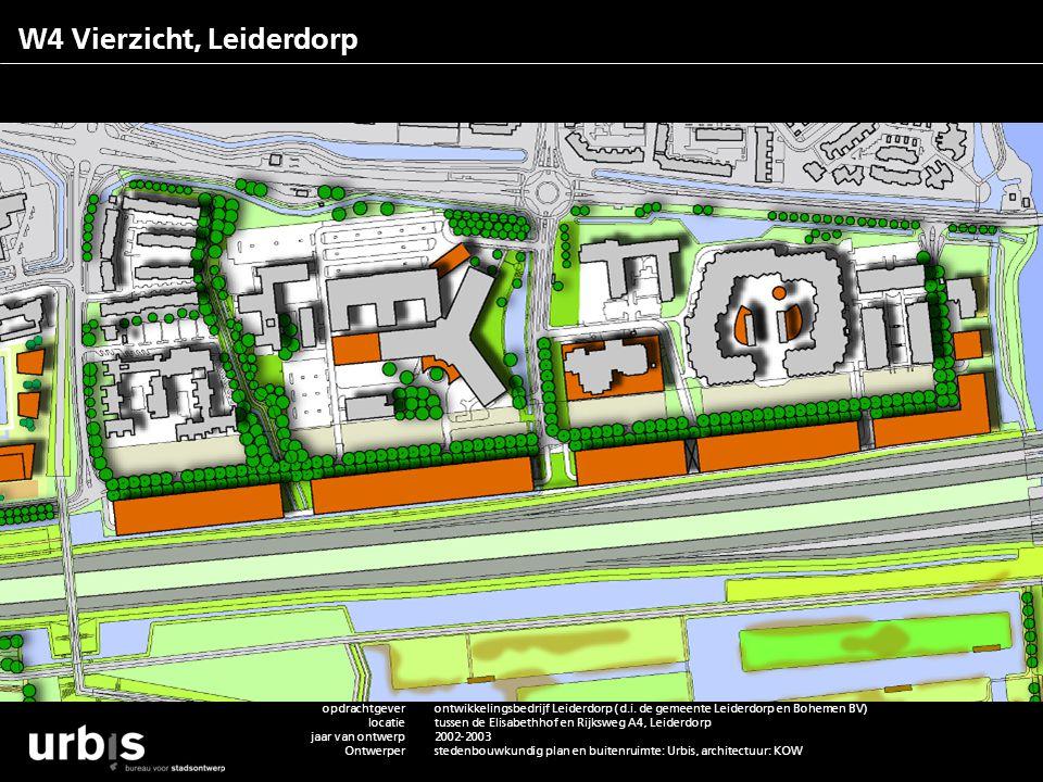 W4 Vierzicht, Leiderdorp opdrachtgever locatie jaar van ontwerp ontwerper team van adviseurs functie m2rs/ aantallen status project contactpersoon web
