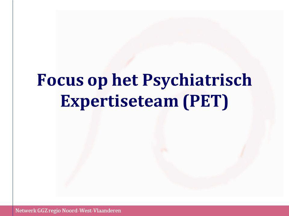 Netwerk GGZ regio Noord-West-Vlaanderen Mobiel Behandelteam (MBT) Eigen case-load: Iedere medewerker heeft zijn eigen agenda en zijn eigen cliënten.