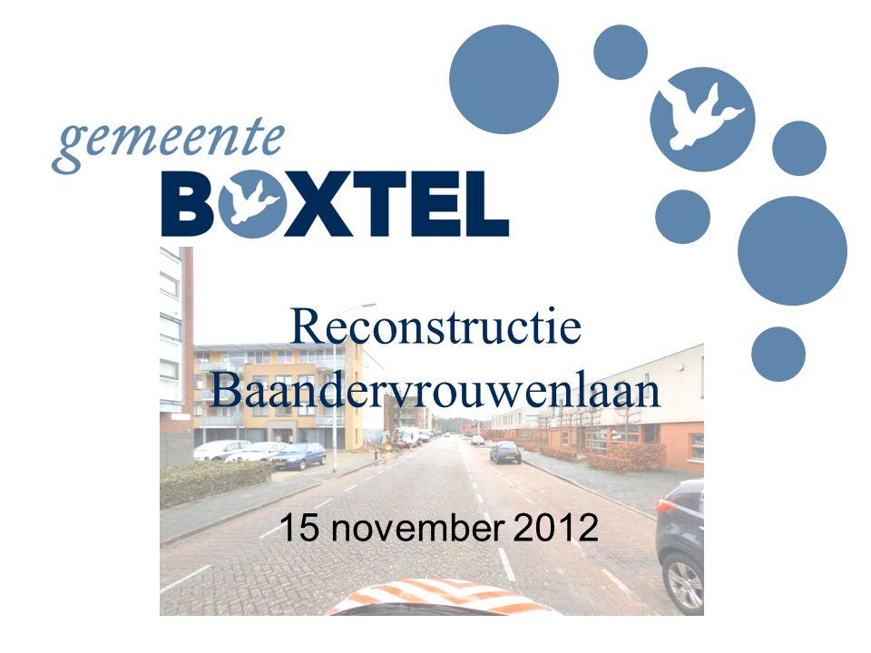 Reconstructie Baandervrouwenlaan 15 november 2012
