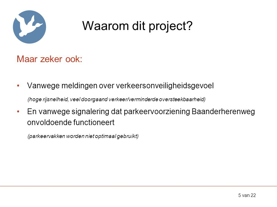 Waarom dit project.