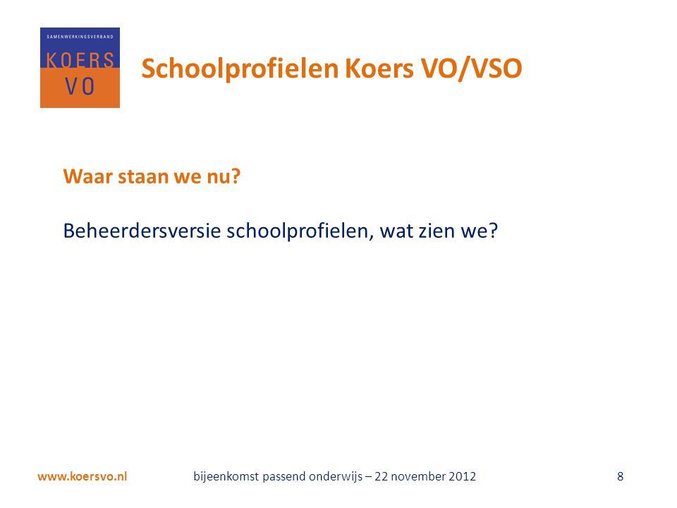 www.koersvo.nl 9 Schoolprofielen Koers VO/VSO