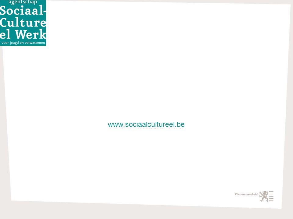 Cijferboeken Cultuur, Jeugd en Sport 22 april 2009 • 23 www.sociaalcultureel.be