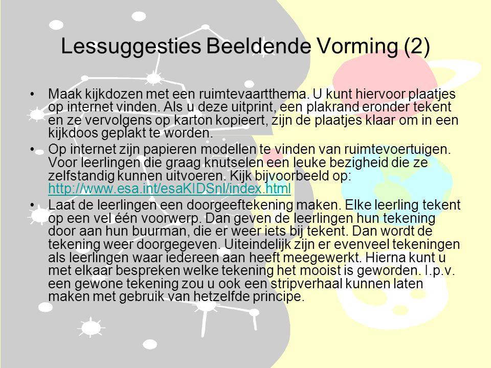 Lessuggesties Beeldende Vorming (2) •Maak kijkdozen met een ruimtevaartthema.