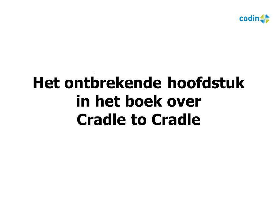 1 Het ontbrekende hoofdstuk in het boek over Cradle to Cradle