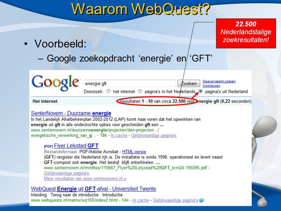 HELP.Waarom WebQuest.