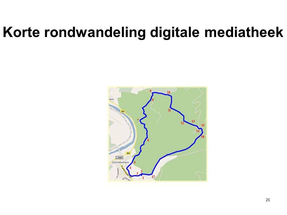 Korte rondwandeling digitale mediatheek 26