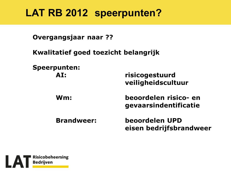 LAT RB 2012speerpunten.Overgangsjaar naar ?.