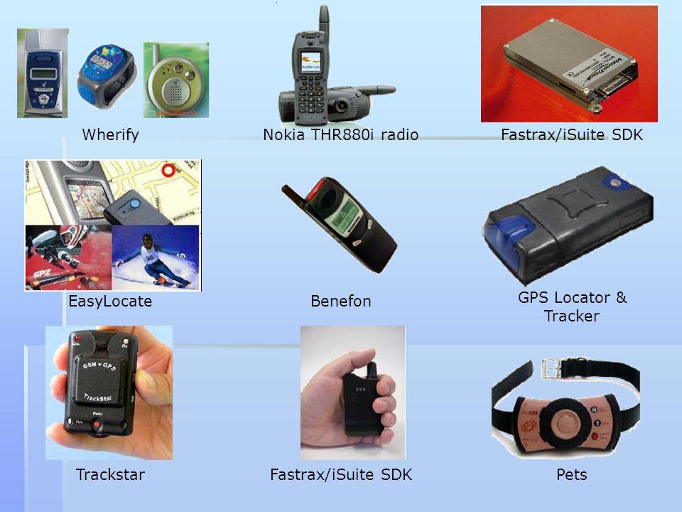 Wherify EasyLocate Trackstar Nokia THR880i radio Benefon Fastrax/iSuite SDK GPS Locator & Tracker Pets