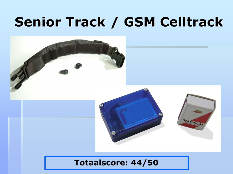 Senior Track / GSM Celltrack Totaalscore: 44/50