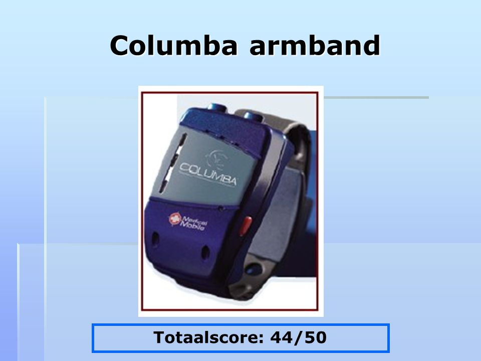 Columba armband Totaalscore: 44/50