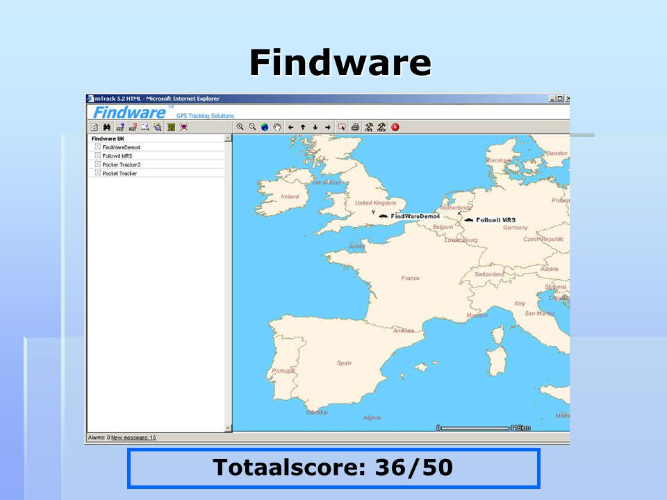 Findware Totaalscore: 36/50