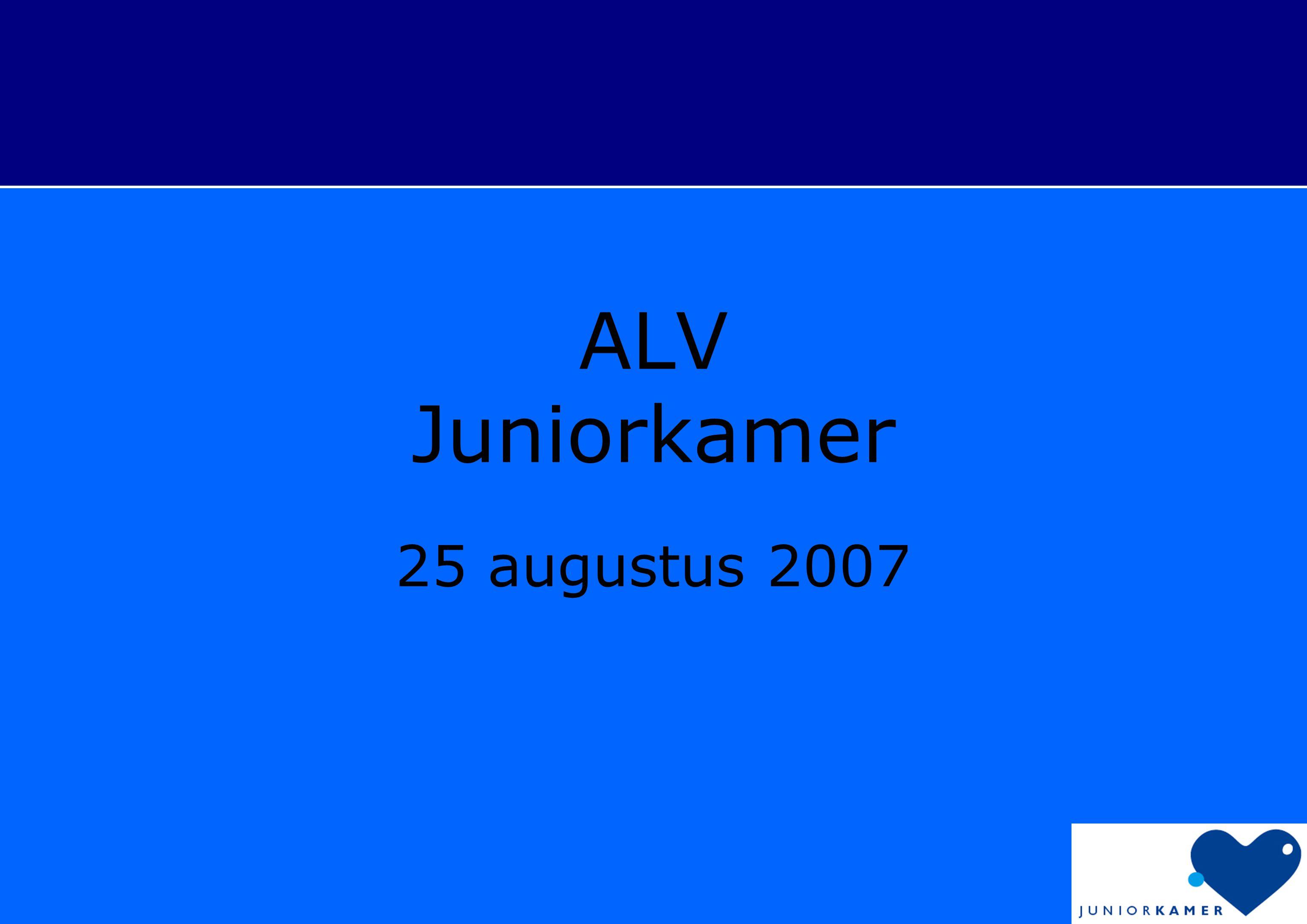 ALV Juniorkamer 25 augustus 2007
