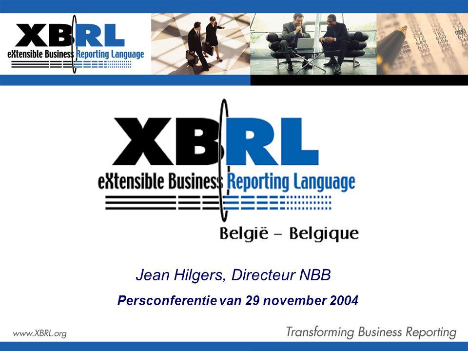 Persconferentie van 29 november 2004 Jean Hilgers, Directeur NBB