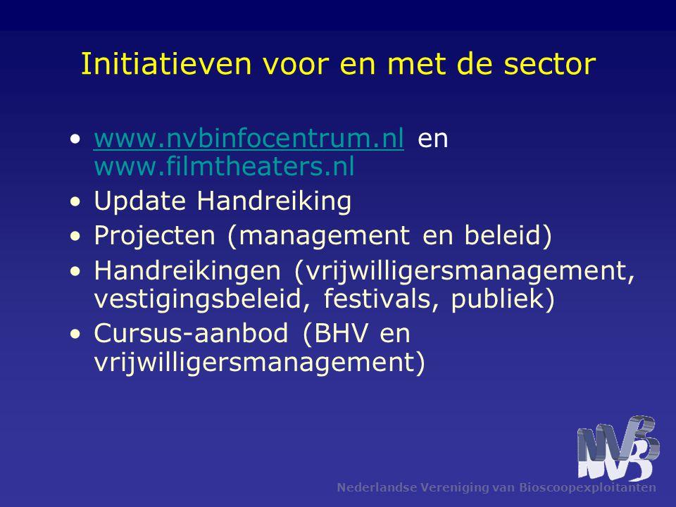 Nederlandse Vereniging van Bioscoopexploitanten Initiatieven voor en met de sector •www.nvbinfocentrum.nl en www.filmtheaters.nlwww.nvbinfocentrum.nl