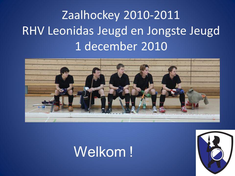 Zaalhockey 2010-2011 RHV Leonidas Jeugd en Jongste Jeugd 1 december 2010 Welkom !