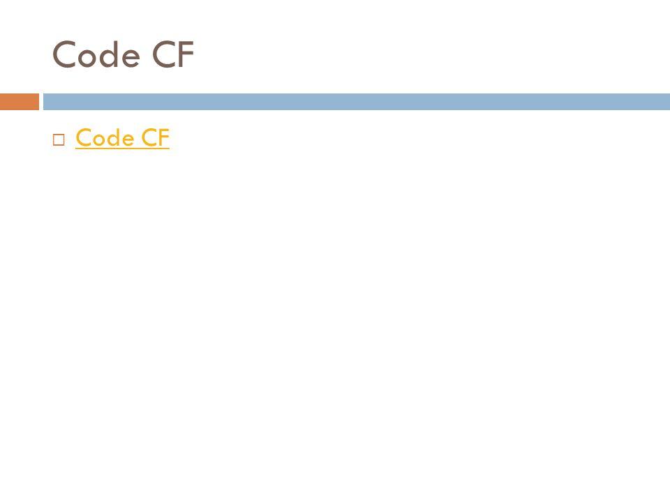 Code CF  Code CF Code CF