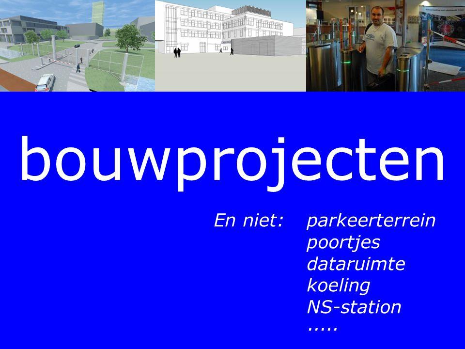 bouwprojecten En niet: parkeerterrein poortjes dataruimte koeling NS-station ·····