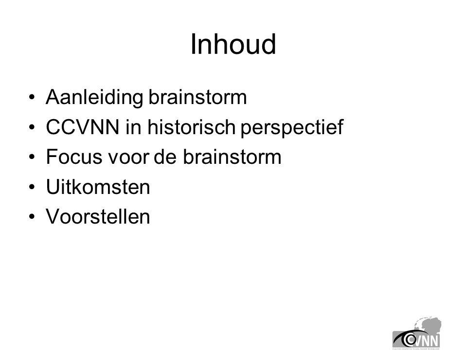 Aanleiding voor de brainstorm •Constateringen: –Bestaansrecht is bewezen: groei leden, meetings, lezingen en projecten.