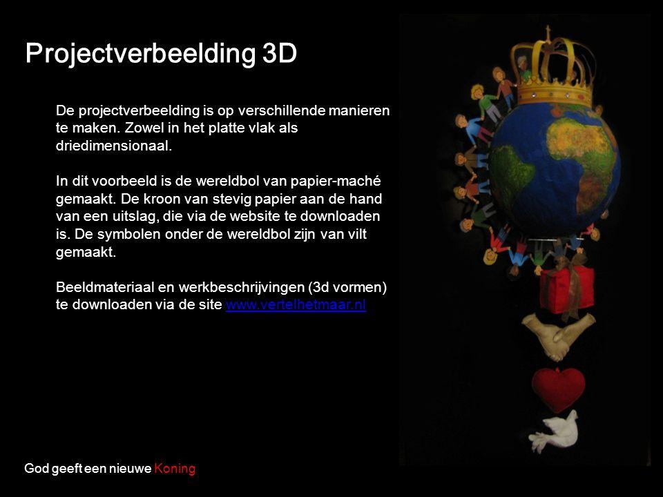 Projectverbeelding 3D De projectverbeelding is op verschillende manieren te maken. Zowel in het platte vlak als driedimensionaal. In dit voorbeeld is
