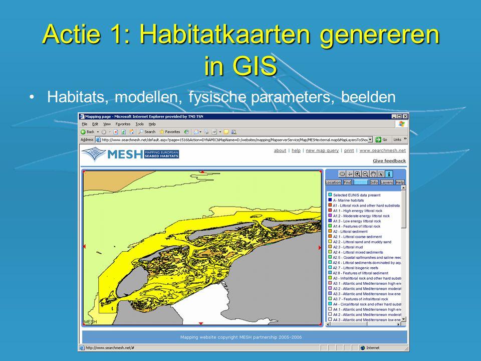 •Van één product op papier naar digitale flexibiliteit Actie 1: Habitatkaarten genereren in GIS  van oud naar nieuw