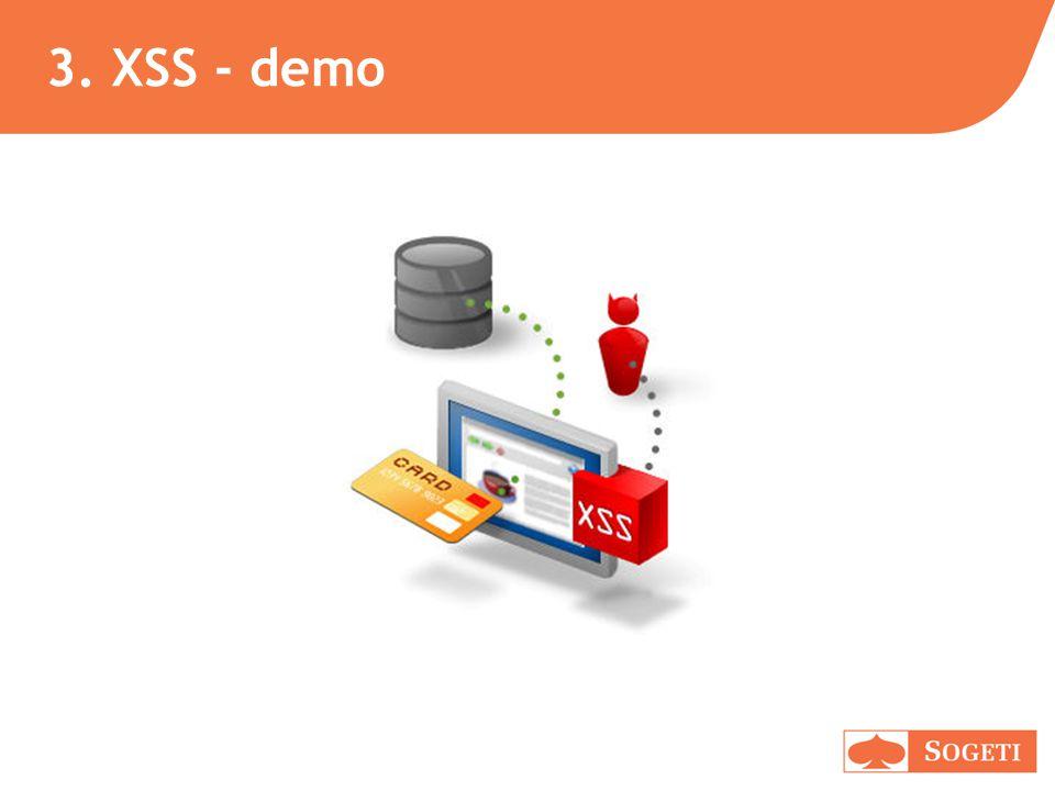 3. XSS - demo
