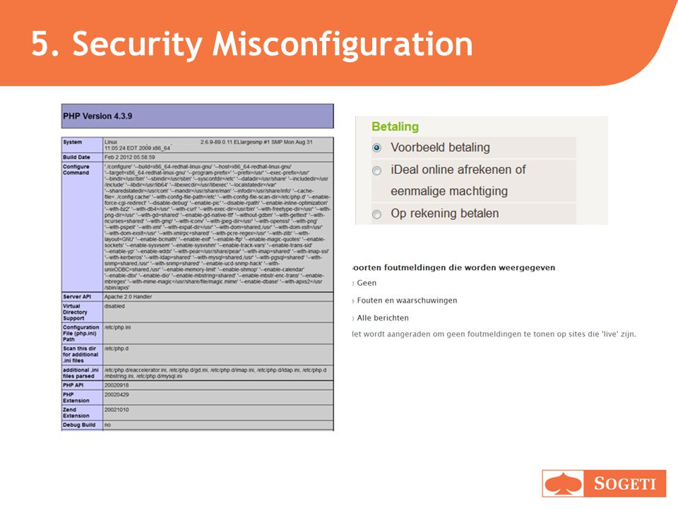 5. Security Misconfiguration